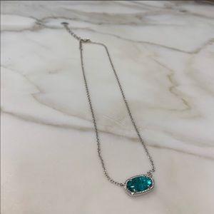turquoise kendra scott necklace